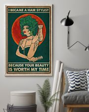 Hairdresser I Became A Hair Stylist 16x24 Poster lifestyle-poster-1