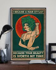 Hairdresser I Became A Hair Stylist 16x24 Poster lifestyle-poster-2
