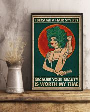 Hairdresser I Became A Hair Stylist 16x24 Poster lifestyle-poster-3