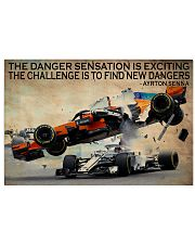 Racing The Danger Sensation Is Exciting 24x16 Poster front