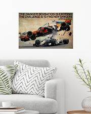 Racing The Danger Sensation Is Exciting 24x16 Poster poster-landscape-24x16-lifestyle-01