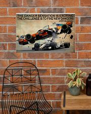 Racing The Danger Sensation Is Exciting 24x16 Poster poster-landscape-24x16-lifestyle-24