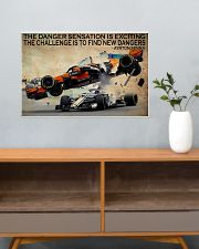 Racing The Danger Sensation Is Exciting 24x16 Poster poster-landscape-24x16-lifestyle-25