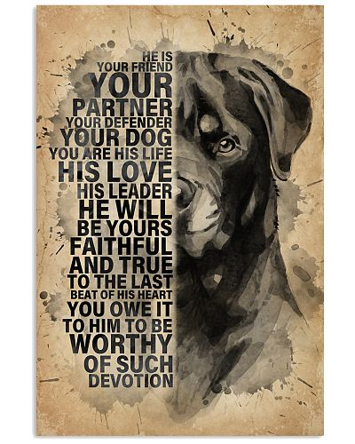 Dog Rottweiler He Is Your Friend