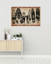 Surfing You Don't Stop Surfing 36x24 Poster poster-landscape-36x24-lifestyle-01