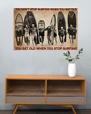Surfing You Don't Stop Surfing 36x24 Poster poster-landscape-36x24-lifestyle-21