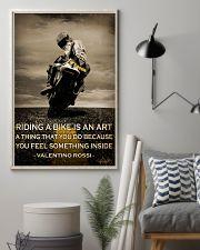 Biker Riding A Bike Is An Art 16x24 Poster lifestyle-poster-1