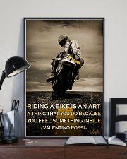Biker Riding A Bike Is An Art 16x24 Poster lifestyle-poster-2