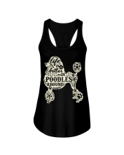 Life is better with poodles around Ladies Flowy Tank front