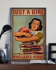Book Just A Girl 16x24 Poster lifestyle-poster-2