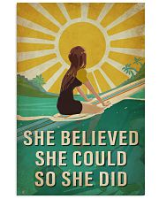 Surfing She Believed She Could 16x24 Poster front