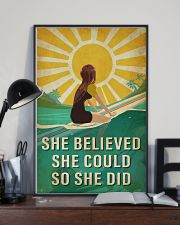 Surfing She Believed She Could 16x24 Poster lifestyle-poster-2