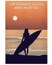 Surfing The Ocean Is Calling 16x24 Poster front