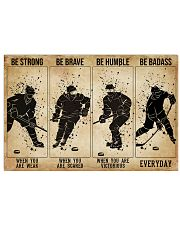 Hockey Be Strong When You Are Weak 17x11 Poster front