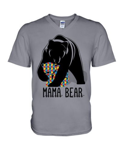 Autism Mama Bear - Hoodie And T-shirt
