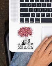 Book Just A Girl Sticker - Single (Vertical) aos-sticker-single-vertical-lifestyle-front-11