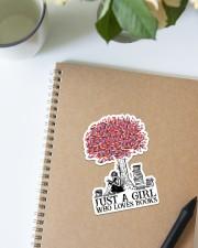 Book Just A Girl Sticker - Single (Vertical) aos-sticker-single-vertical-lifestyle-front-16