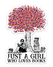 Book Just A Girl Sticker - Single (Vertical) front