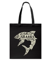 Shark Life is better - Hoodie And T-shirt Tote Bag thumbnail