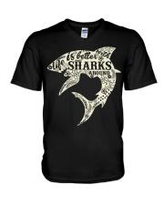 Shark Life is better - Hoodie And T-shirt V-Neck T-Shirt thumbnail