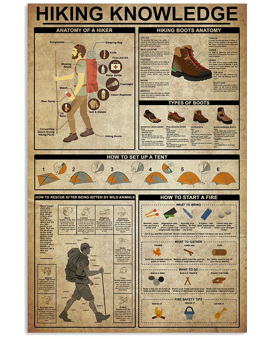 Hiking Knowledge 16x24 Poster