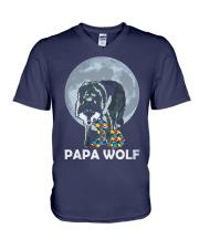 Papa Wolf V-Neck T-Shirt thumbnail