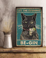 Cat Let The Evening Be-Gin 16x24 Poster lifestyle-poster-3