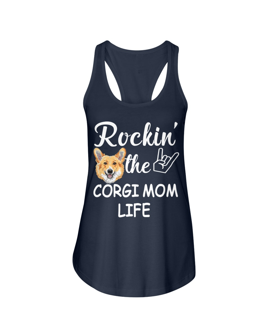 corgi mom life Ladies Flowy Tank