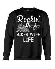 Biker Wife life Crewneck Sweatshirt thumbnail
