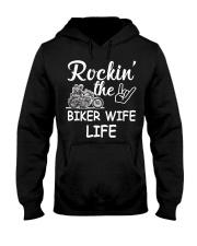 Biker Wife life Hooded Sweatshirt thumbnail