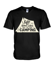 Life is better when i'm camping V-Neck T-Shirt thumbnail