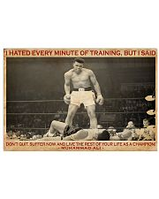 Boxing I Hated Minite Of Training 36x24 Poster front