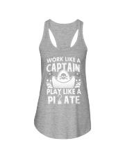 Work like a Captain Ladies Flowy Tank thumbnail