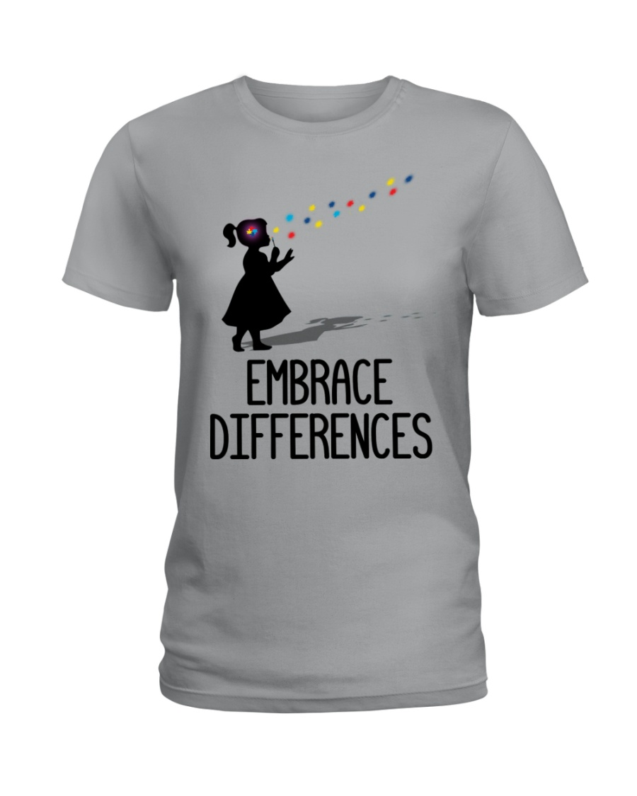 Embrace Differences Ladies T-Shirt