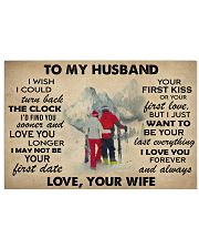 Skiing To My Husband 36x24 Poster front