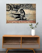 Biker If Everything Is Under Control 36x24 Poster poster-landscape-36x24-lifestyle-21
