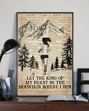 Running Let The King Of My Heart Be The Mountain 16x24 Poster lifestyle-poster-2