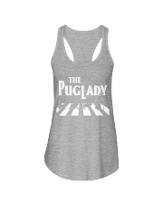 the pug lady Ladies Flowy Tank thumbnail