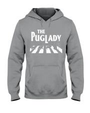 the pug lady Hooded Sweatshirt thumbnail