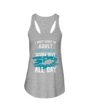 I just want to scuba dive Ladies Flowy Tank tile