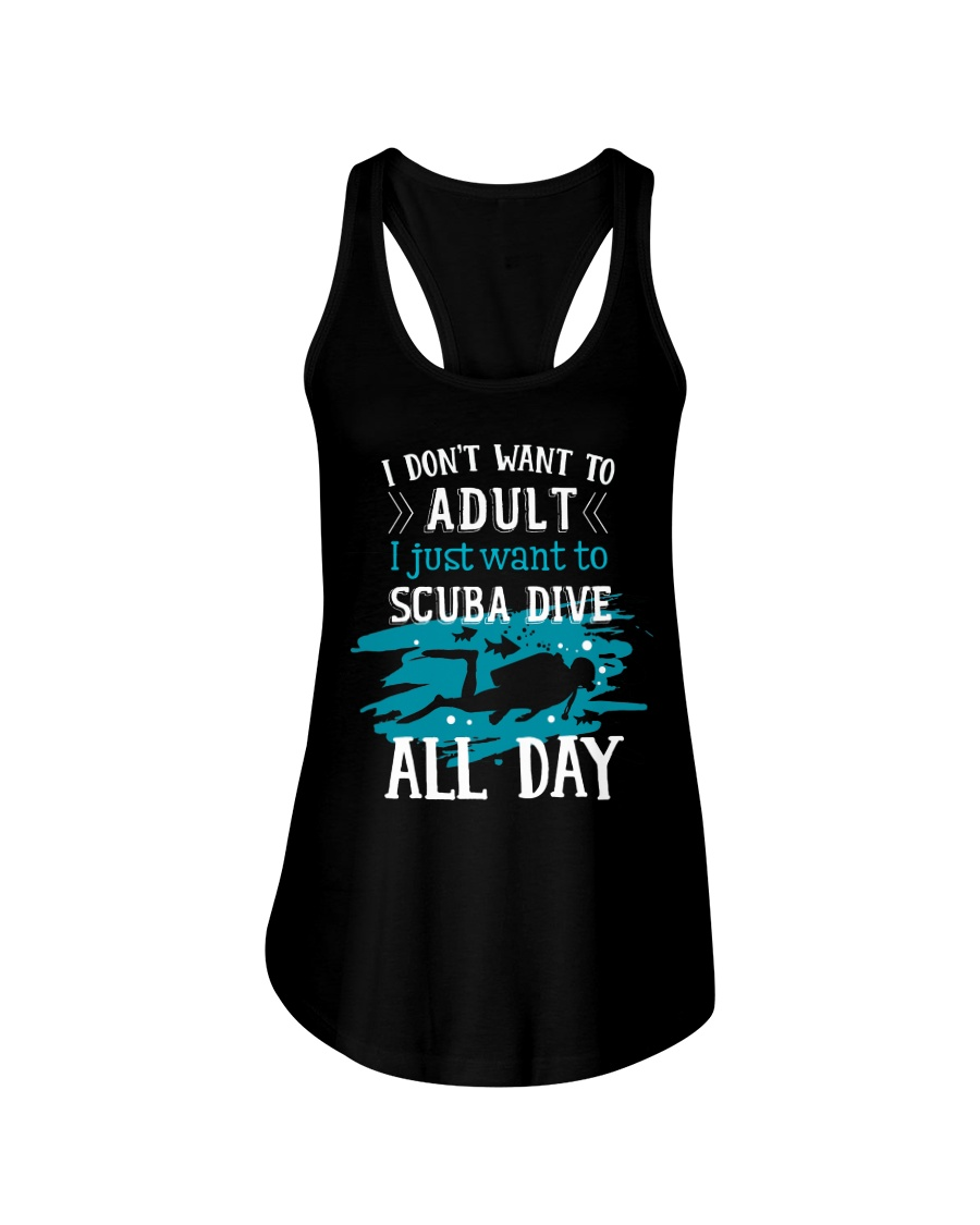 I just want to scuba dive Ladies Flowy Tank