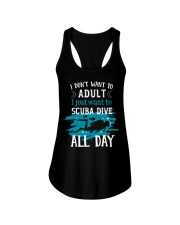 I just want to scuba dive Ladies Flowy Tank front