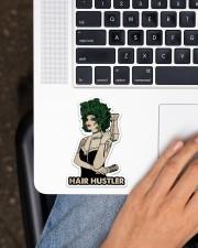 Hairdresser Hair Hustler Sticker - Single (Vertical) aos-sticker-single-vertical-lifestyle-front-11