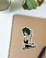 Hairdresser Hair Hustler Sticker - Single (Vertical) aos-sticker-single-vertical-lifestyle-front-16