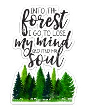 Camping Find My Soul Sticker - Single (Vertical) front