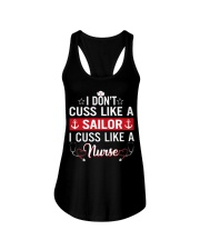 I don't cuss like a sailor Ladies Flowy Tank front