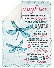 Family To My Daughter Sherpa Fleece Blanket tile