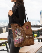 Breast Girl Leather Pattern Print All-over Tote aos-all-over-tote-lifestyle-front-04