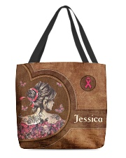 Breast Girl Leather Pattern Print All-over Tote front