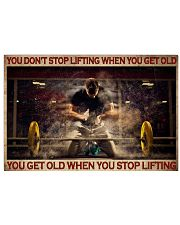 Fitness You Don't Stop Lifting 36x24 Poster front